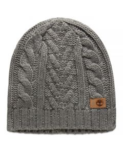 Cable Beanie Light Grey