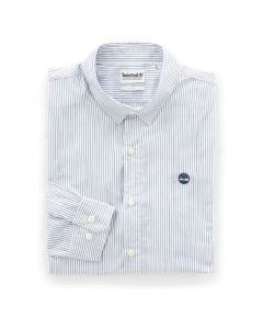 Suncook River Poplin Non-Iron Stripes Slim Shirt