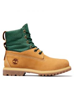 Women's 6 Inch Premium ReBOTL Green and Wheat Boot