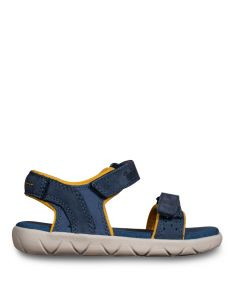 Junior Nubble 2 Strap Sandal Blue and Yellow