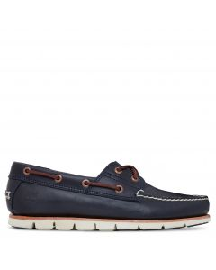 Timberland Men's Leather Boat Shoes Navy