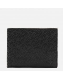 Large Wallet And Coin Pouch Leather Black