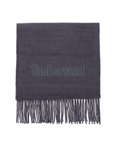 Plaid Scarf With Embroidery Gift Box Navy
