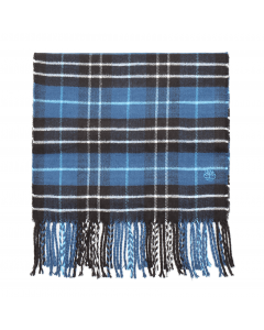 Plaid Scarf With Embroidery Gift Box