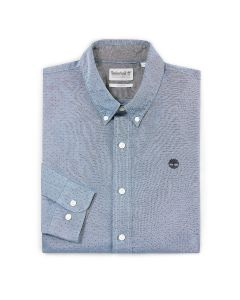 Tioga River Texture Shirt Slim Grey Blue