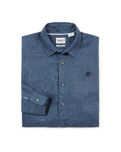 Mill River Linen Shirt Slim Navy