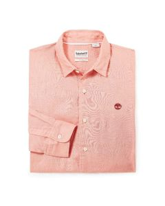 Mill River Linen Shirt Slim Pink
