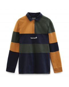 LS outdoor archive Wheat Green and Navy polo