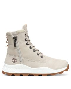 Brooklyn Side Zip Boot Sneaker Beige