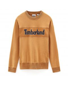 Connecicut River Heritage Cut and Logo Crew Sweater Wheat