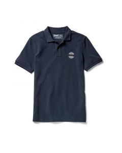 Millers River Chest graphic Navy Polo