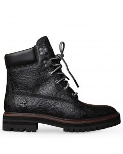 London Square 6-inch Boot Black Embossed