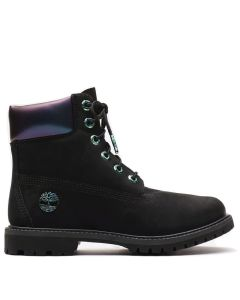 6-inch Premium Boot Icon Black with Iridescent Collar