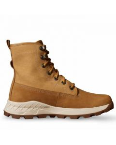 Brooklyn Leather and Fabric Boot Wheat