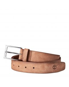 Timberland Men's Washed Leather Belt Tan