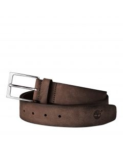 Timberland Men's Washed Leather Belt Brown