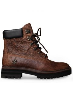 London Square 6in Boot Embossed Rust