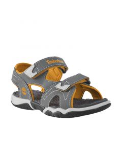 Junior Adventure Seeker 2 Strap Sandal Grey and Orange