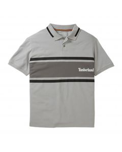 Timberland Men's MillersRiver Colour Block Polo T-shirt Grey