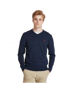 Timberland Men's Williams River V Neck Sweater Navy