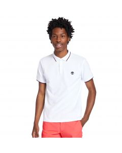 Timberland Men's Pique Tipped Polo Tee White