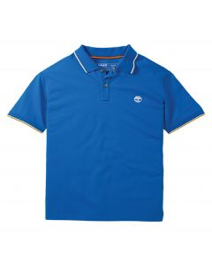 Timberland Men's Pique Tipped Polo Tee Blue