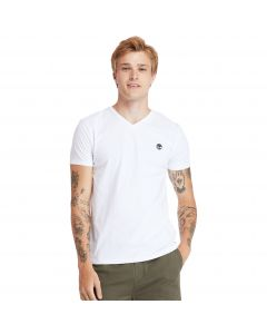 Timberland Men's Dun-Riv V Neck T-Shirt White