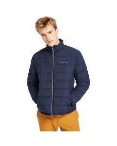 Timberland Men's Garfield Quilted Funnel Neck Jacket Navy