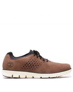 Bradstreet Perforated Oxford Sneaker Brown Nubuck