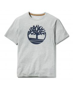 Timberland Men's SS Back Linear Logo Tee Grey