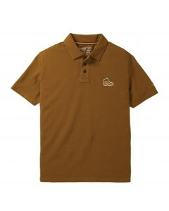 Timberland Men's Boots Logo Polo Shirt Brown