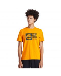 Timberland Men's Front Graphic T-Shirt Orange