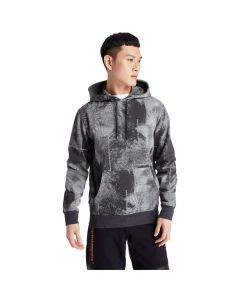 Timberland Men's Reflective Print Pull- Over Hoodie Sweatshirt Grey