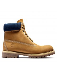 Timberland Men's 6-inch Premium Boot Wheat with Navy
