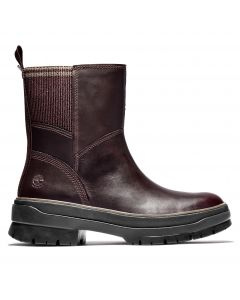 Timberland Women's Malynn Side Zip Boot Burgundy