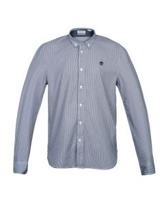 Milford Stripe Oxford Slim Blue and White