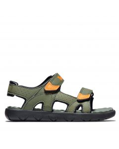 Youth Perkins Row Strap Sandal Green and Orange
