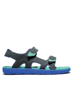 Junior Perkins Row Strap Sandal Green and Grey