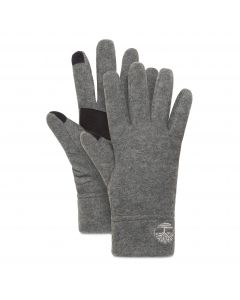Fleece Glove With Touch Tips Light Grey