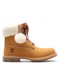 Authentic Shearling Collar 6-inch Waterproof Boot Wheat