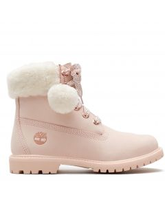 Authentic Shearling Collar 6-inch Waterproof Boot Light Pink