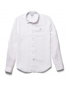 Mill River Linen Shirt Slim White