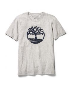 Kennebec River Seasonal Pattern Tree Tee Grey
