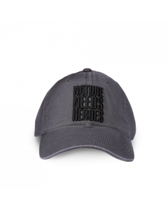 Nature Needs Heroes Baseball Cap Grey